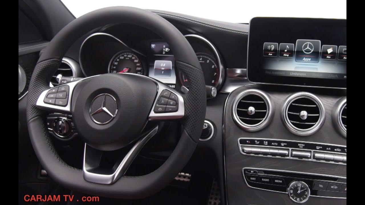 mercedes c class 2014 interior new c250 w205 in detail. Black Bedroom Furniture Sets. Home Design Ideas