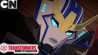 Transformers: Robots in Disguise | Trapped in the Subway | Cartoon Network