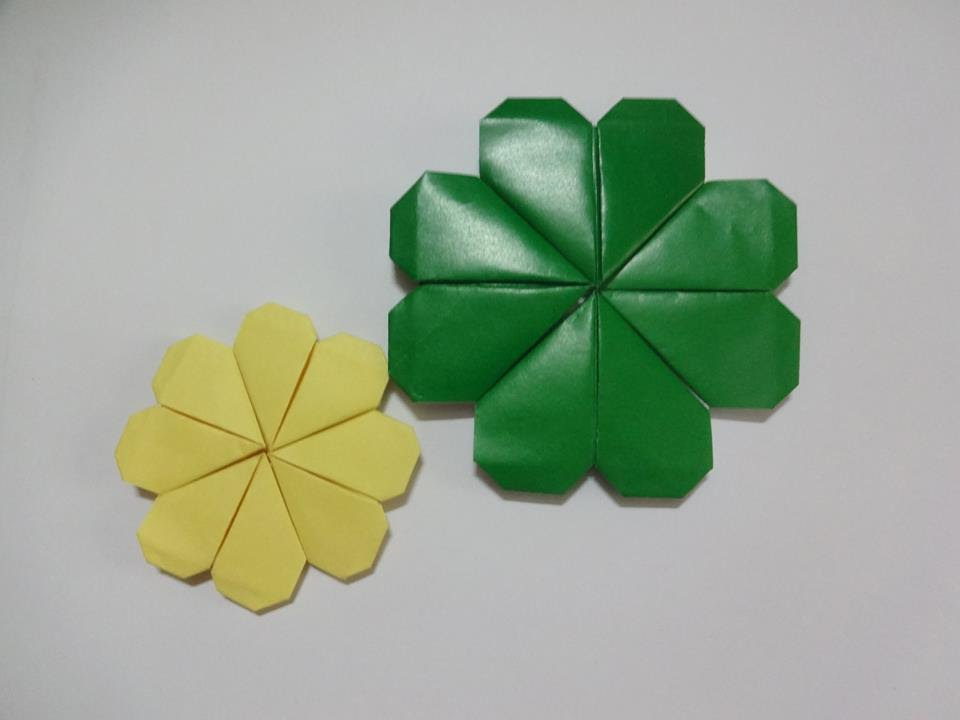 origami tutorial clover leaf youtube