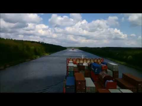 Kiel Canal transit with the OOCL Rauma