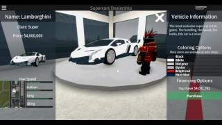 ROBLOX Vehicle Simulator - Buying the Veneno