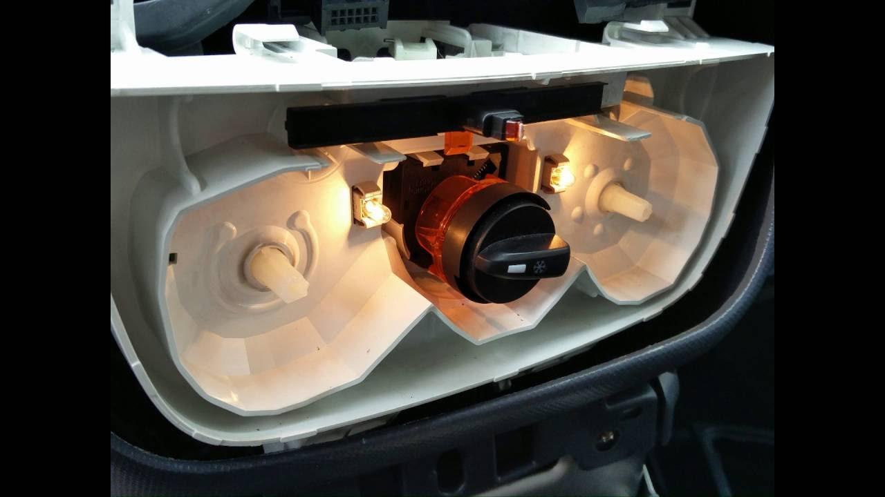 nemo cubo bipper fiorino dashboard removal heater dail lights