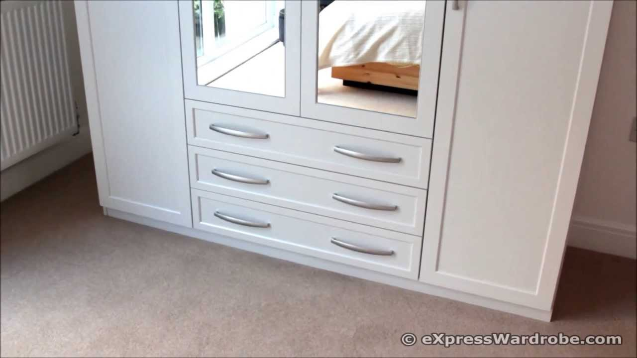 Home Brand Oslo 4 Door 3 Drawer Mirrored Wardrobe From