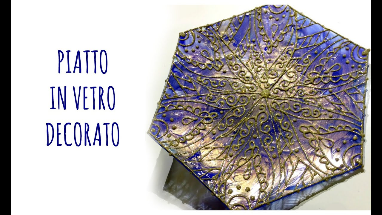 Pittura su vetro piatto in vetro decorato idea regalo for Immagini da dipingere su vetro