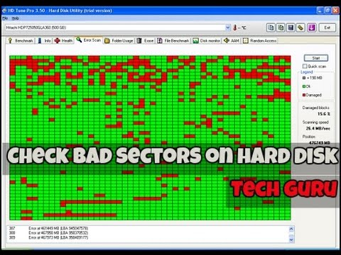 How To Check Your Hard Disk Bad Sectors/Health