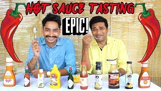 EPIC HOT SAUCE TASTING   Food Eating Competition