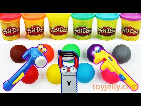 Learn Colors Play Doh Mickey Mouse Tools Baby Toys Disney Po