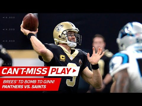 Drew Brees Airs it Out to Ted Ginn Jr. on 80-Yd TD Bomb! | Can