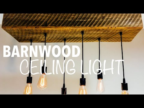 How to make a wooden hanging lamp