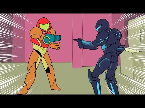 All Metroid Games (Metroid Storyline) in 3 Minutes! (Metroid Animation)