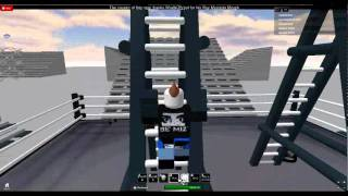 Me getting the WWE Chapion belt as The Miz on Roblox