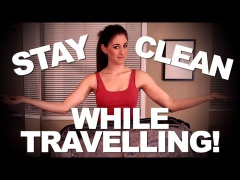 How to Stay Clean While Traveling! Quick & Easy Cleaning Ideas for Traveling (Clean My Space)