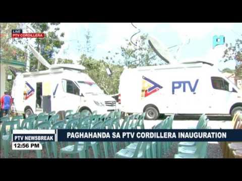 Paghahanda para sa inagurasyon ng PTV-Cordillera mamayang 5PM na dadaluhan ni PRRD