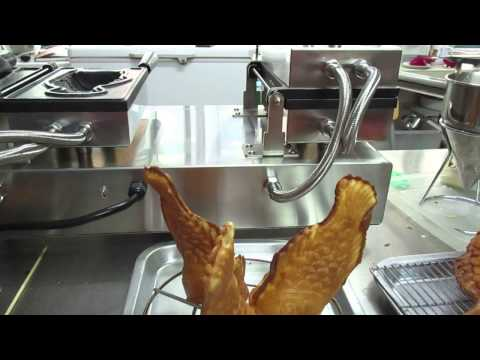 Korea Waffle Fish Ice Cream Making Process