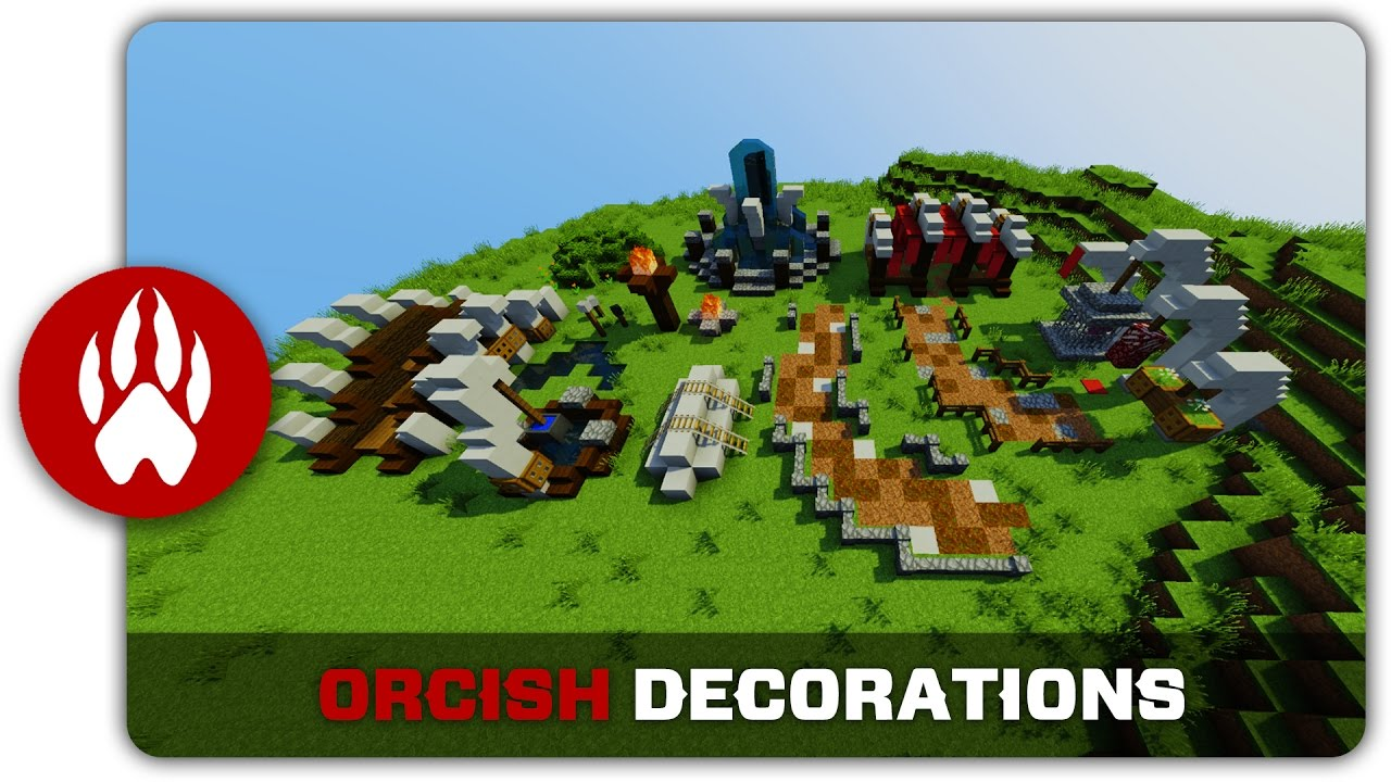 Minecraft Building Tutorial : How to build Orcish Town ...