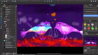 Affinity Designer Tutorial - Love Birds Breakdown