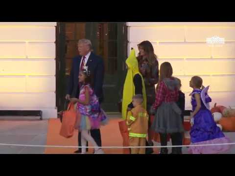 President Trump and The First Lady Participate in Halloween at the White House