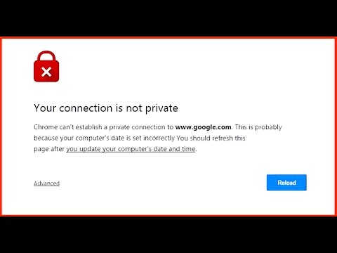 How To Fix Your Connection Is Not Private Error In Chrome.