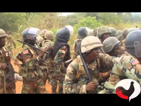 The Armed Forces of Liberia Conducts a Training Simulation.