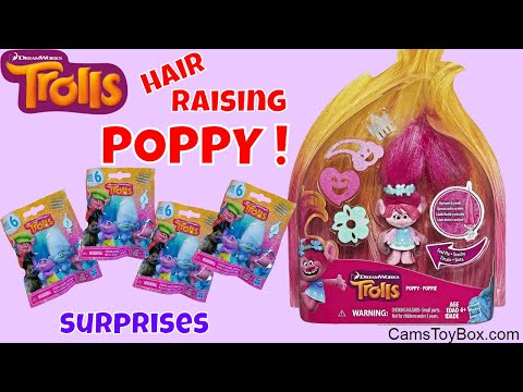 Dreamworks Trolls Hair Raising Poppy Opening Series 6 Blind Bags Surprise Toys Unboxing