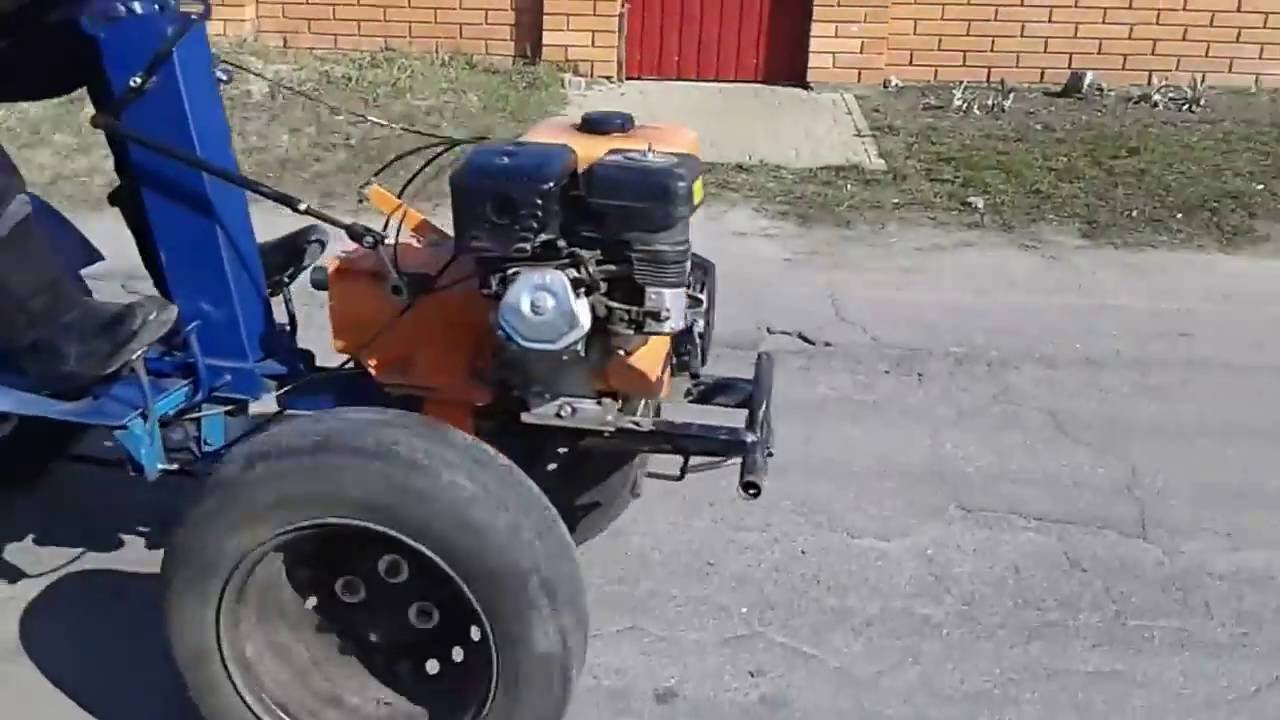 BULATochka.prom.ua Адаптер для мотоблока БУМ-3 (испытание) - YouTube
