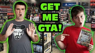 Kids At GameStop Wanted Grand Theft Auto V Skit