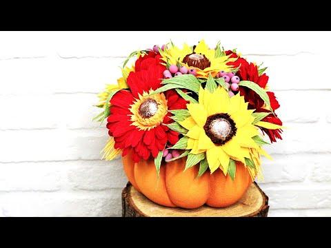Осенний букет в тыкве своими руками