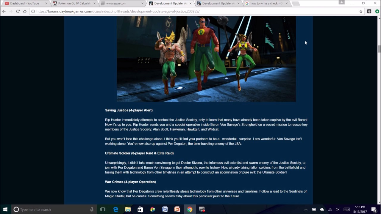 Dcuo: New Dlc, Age Of Justiceing June 1st