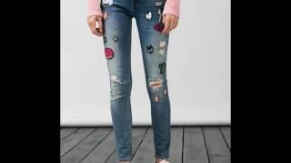Moda 2017 Fashion 2018 invierno 2017 jeans con parches y figuras