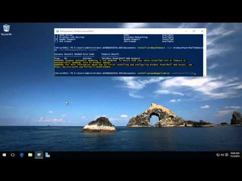 Server 2016 and 2012 R2 Remote PowerShell and PowerShell Web Access