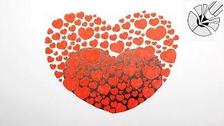 Рисуем красивое Сердце из сердечек - Как нарисовать сердце Зенарт (Зендудлинг) ручкой(В этом видео я показываю как нарисовать красивое сердце из множества маленьких сердечек в стиле Зенарт..., 2016-12-15T14:49:23.000Z)