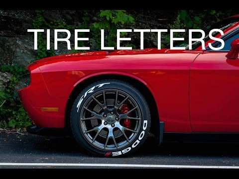 INSTALLING TIRE LETTERS