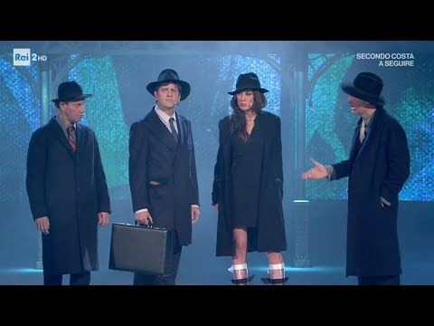 """Lo sketch """"Il noir"""" di Ale e Franz - Virginia Raffaele - Facciamo che io ero 24/05/2017"""