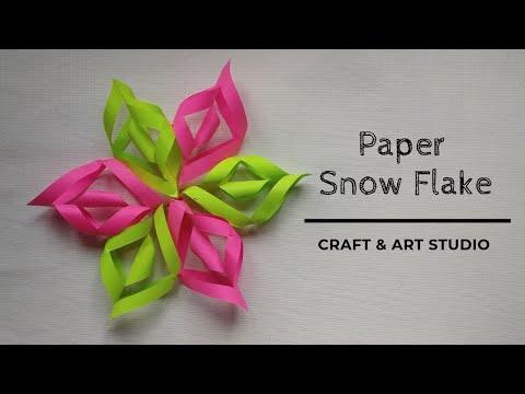 How to Make Paper Snow Flake | DIY 3D Paper Snowflake