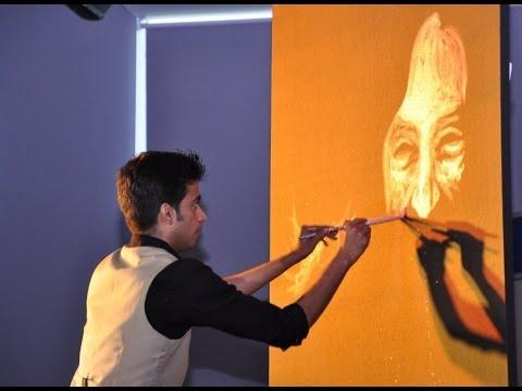 Vilas Nayak painting Dr APJ Abdul Kalam for India Inclusion Summit  YouTube