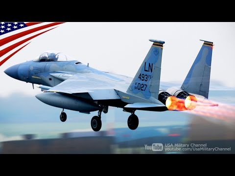 緊迫のスクランブル!F-22 & F-15戦闘機 B-52爆撃機 KC-135空中給油機の緊急発進