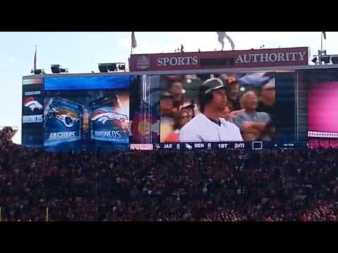 Todd Helton honored at Broncos game.