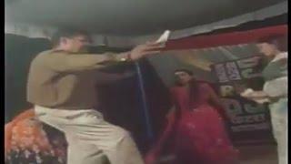 Drunken Police Officer Dancing with Bar girls