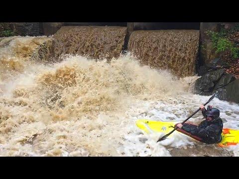 Kayaking a Tunnel Into a Waterfall — Rock Run, D.C.