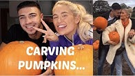 CARVING PUMPKINS WITH TOMMY....