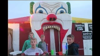 Clown Haunted House! No Thanks! Not For Me!  Hunters Birthday Party At Cornbellies