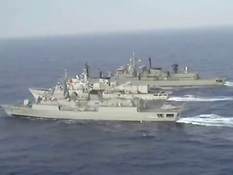Hellenic Navy AB212 filming over Atlantic Ocean SN
