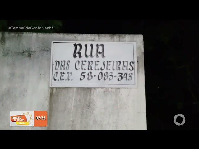 Telespectador mostra situação de esgoto à céu aberto na rua das Cerejeiras- Tambaú da Gente Manhã