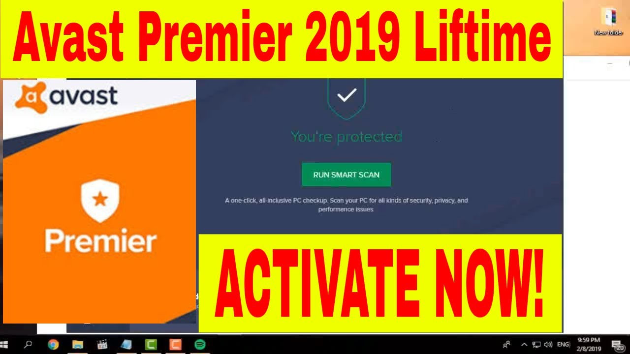 Avast Premier 2019 Lifetime Activation Key - Avast License ...