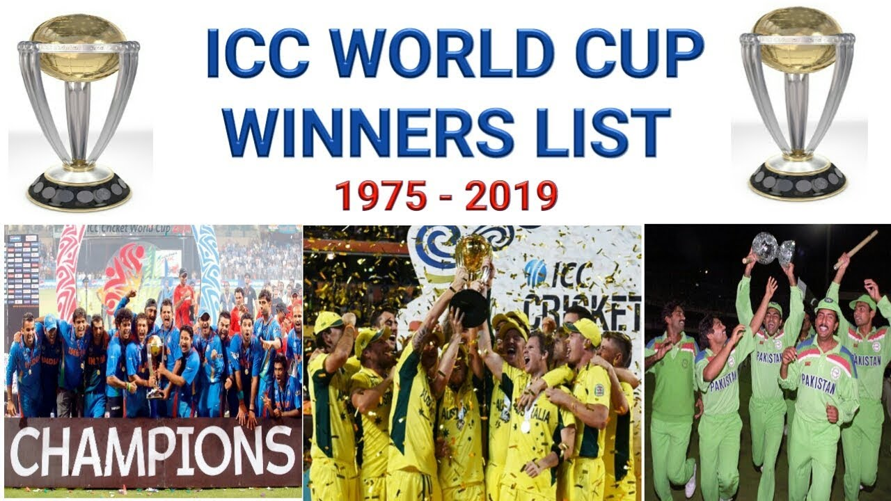 icc world cup winner list 1975 to 2019 world cup winners 2018 odi would cup winners list