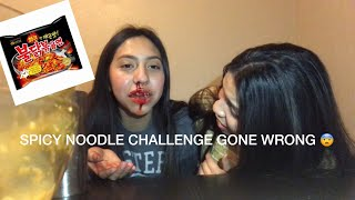 SPICY NOODLE CHALLENGE GONE WRONG !!🥵😱