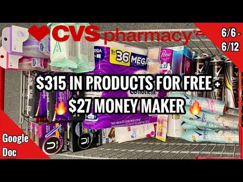 CVS Free & Cheap Coupon Deals & Haul   6/6 – 6/12   $27 Money Maker Week!   $315 SAVED🔥