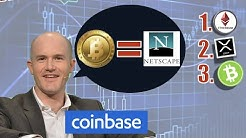 🔴CEO CoinBase Brian Armstrong Equates BITCOIN to NETSCAPE as OLD Failing Tech. ETH 2.0 Whale💲+FRANCE
