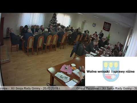 Gmina Pęczniew – XII Sesja Rady Gminy Pęczniew