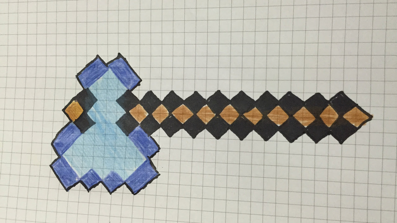 Minecraft axe drawing (minecraft balta çizme)